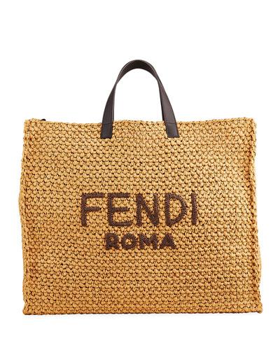 Men's Roma Raffia Tote Bag
