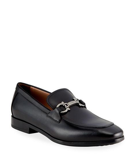 Salvatore Ferragamo Men's Gancini-Bit Leather Loafers