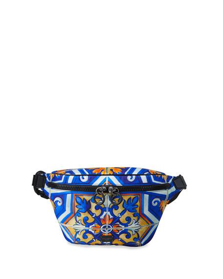 Dolce & Gabbana Men's Marsupio Majolica Fanny Pack/Belt Bag