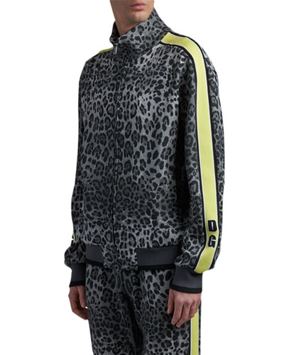 Men's Leopard-Print Track Jacket