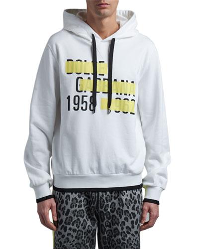 Men's Logo Tape Hoodie Sweatshirt