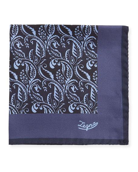 Ermenegildo Zegna Men's Paisley Silk Pocket Square