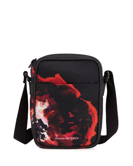 Alexander McQueen Men's Printed Nylon Mini-Messenger Bag