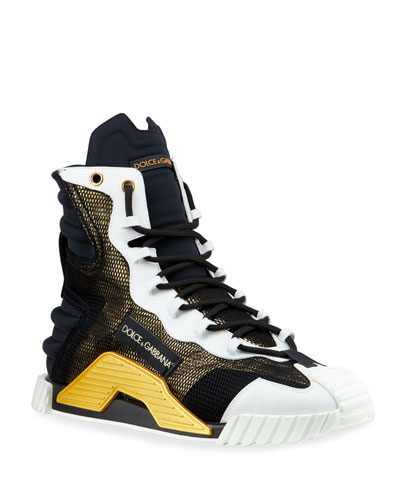 Men's NS1 Metallic Mesh High-Top Sneakers
