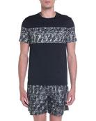 Fendi Men's FF Camo-Stripe Graphic T-Shirt