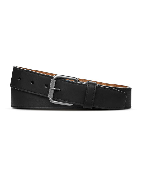 Shinola Men's Leather Belt w/ Brushed Nickel Buckle
