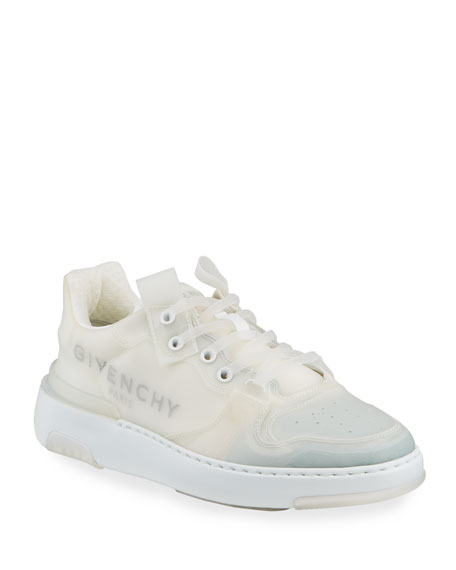 Givenchy Men's Wing PVC Low-Top Logo Sneakers