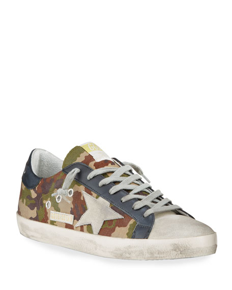 Golden Goose Men's Superstar Vintage Camo Low-Top Sneakers