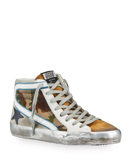 Golden Goose Men's Superstar Camo Mid-Top Sneakers