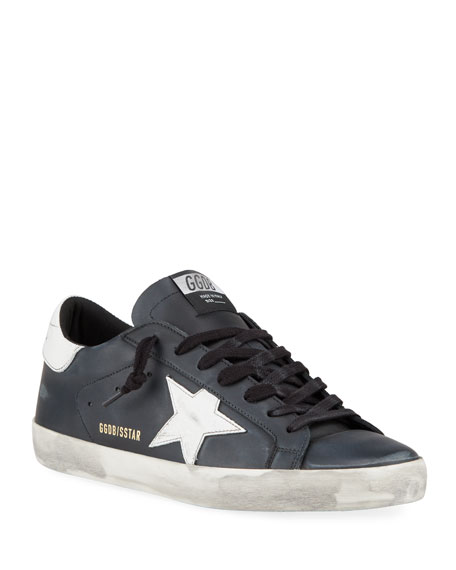 Golden Goose Men's Superstar Vintage Leather Sneakers