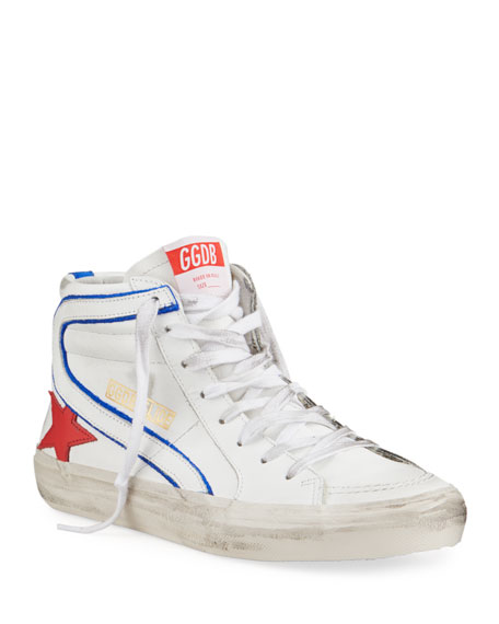 Golden Goose Men's Slide Vintage Star Leather Mid-Top Sneakers