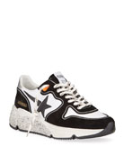 Golden Goose Men's Two-Tone Speckled Star Runner Sneakers