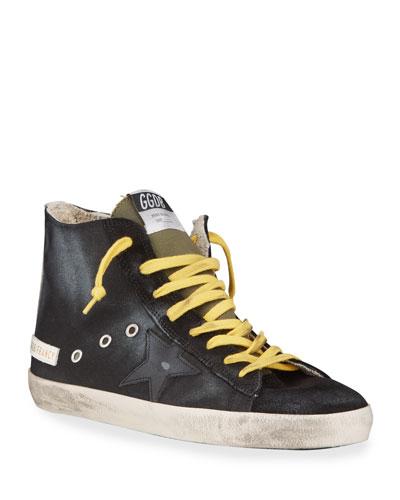 Men's Francy Vintage Star High-Top Sneakers