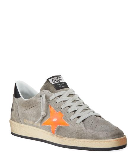 Golden Goose Men's Ball Star Vintage Suede Sneakers
