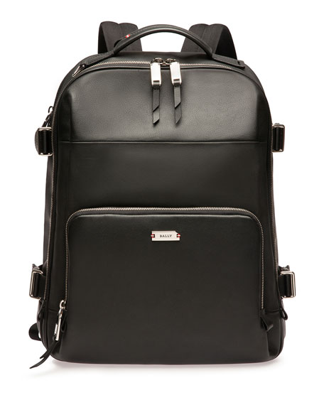 Bally Men's Veltan Leather Laptop Backpack