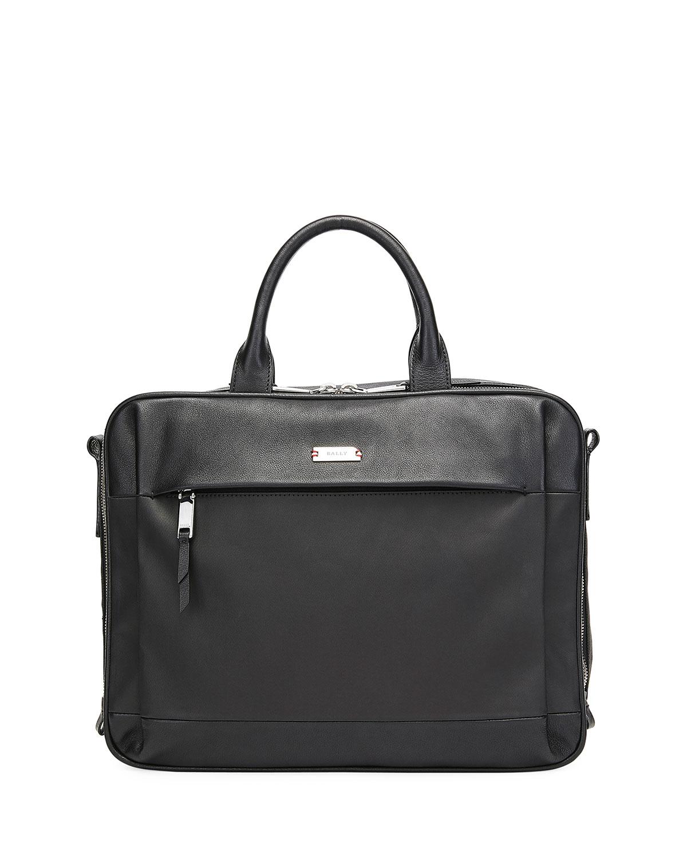 Men's Vaud Nylon/Leather Briefcase