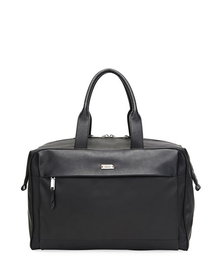 Bally Men's Volkwin Nylon/Leather Weekender Bag