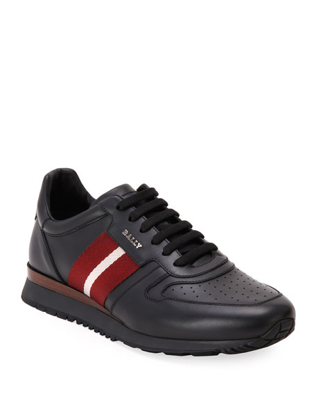 Bally Men's Astel Trainspotting Leather Runner Sneakers