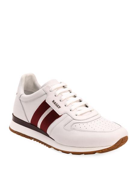 Bally Men's Astel Trainspotting Leather Runner Sneakers