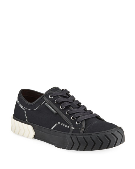 Both Men's Pop Tyres Low-Top Canvas Sneakers