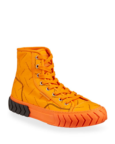 Men's Pop Tyres High-Top Canvas Sneakers