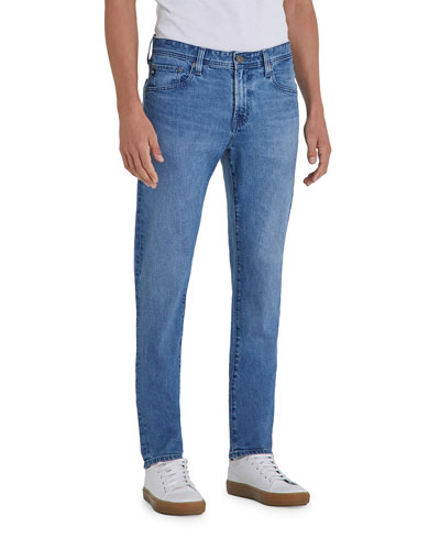AG Adriano Goldschmied Mens Graduate Tailored Jeans In Smoke Blue