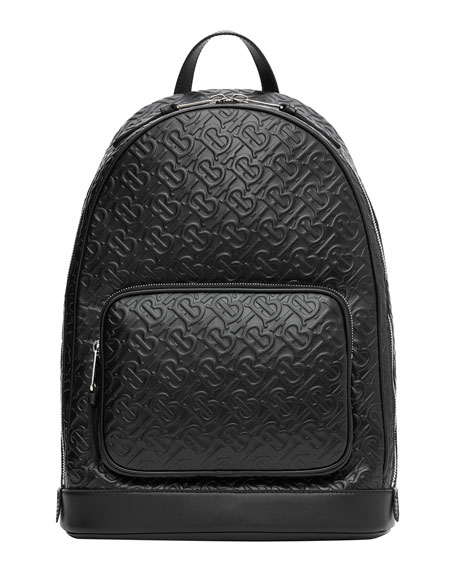 Burberry Men's TB Monogram Leather Backpack
