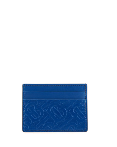 Burberry Men's TB-Monogram Leather Card Case
