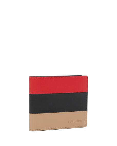 Burberry Men's Colorblock Leather Billfold Wallet