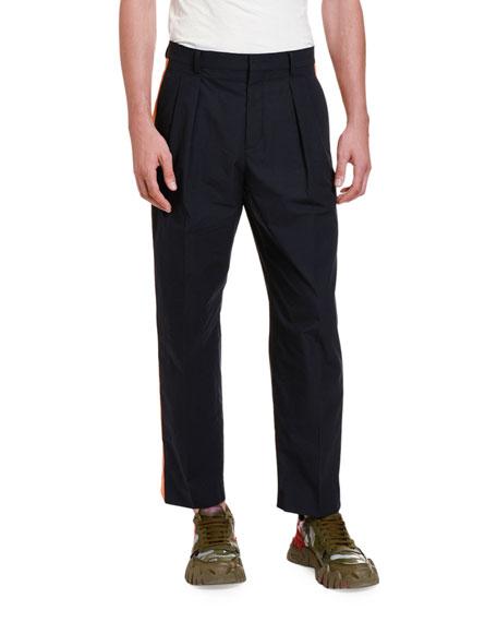 Valentino Men's Side Stripe Ankle Pants