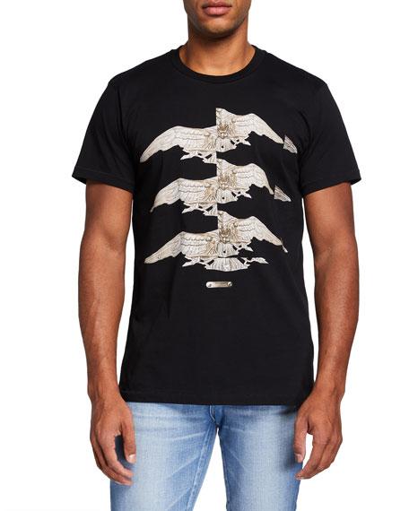 Helmut Lang Men's Three Eagles Graphic Tee