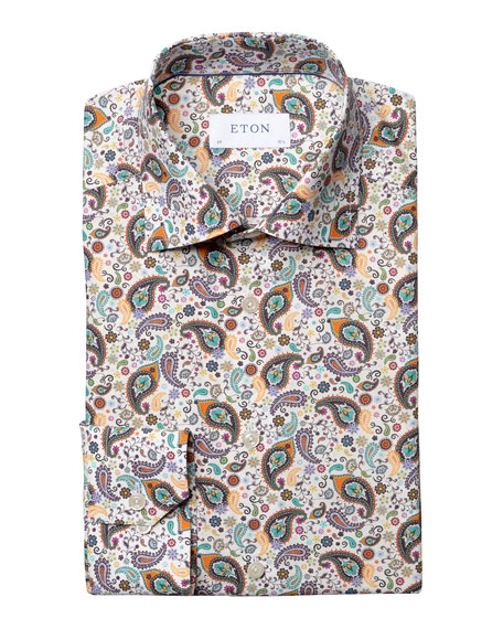 Eton Men's Slim-Fit Paisley-Print Sport Shirt