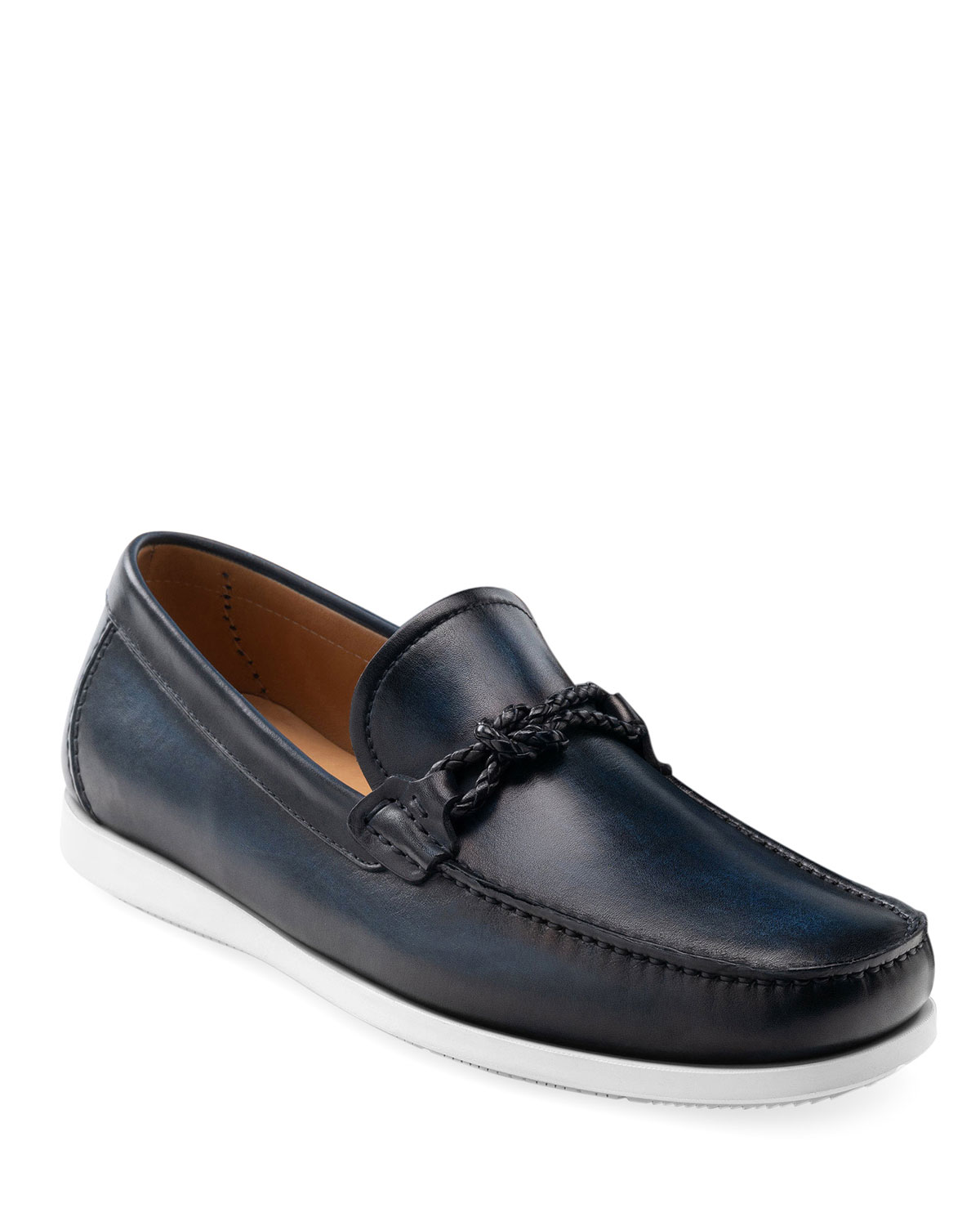 Men's Alarico Leather Loafer Sneakers