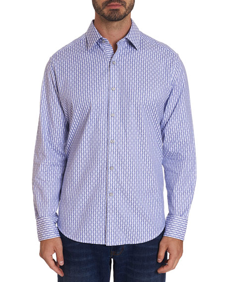 Robert Graham Men's Cylinder Check Sport Shirt