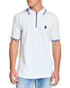 Marcelo Burlon Men's Tipped Polo Shirt w/ Cross