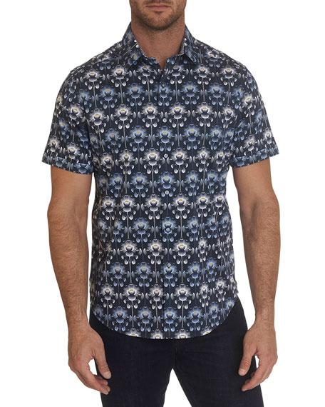 Robert Graham Men's Accolade Large Floral-Print Sport Shirt