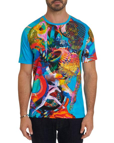 Robert Graham Men's Downshift Embellished Graphic T-Shirt