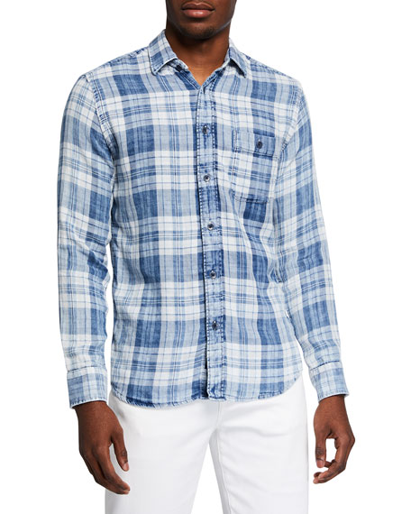 Faherty Men's Seaview Plaid Sport Shirt