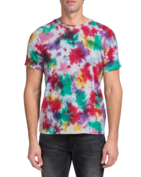 PRPS Men's Heavy Tie-Dye Crewneck T-Shirt