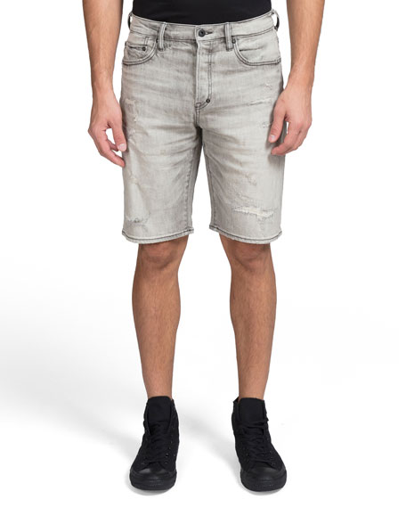 PRPS Men's Destructed Denim Shorts