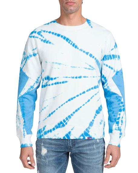 PRPS Men's Tie-Dye Crewneck Pullover Sweatshirt