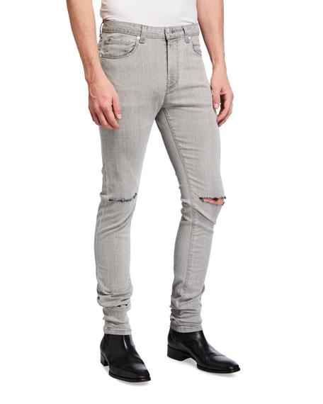 monfrere Men's Greyson Knee-Rip Skinny Jeans
