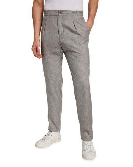 Marco Pescarolo Men's Pleated Twill Cashmere Pants