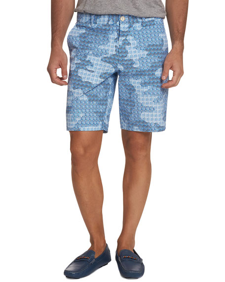 Robert Graham Men's Bottas Mosaic Tile Shorts