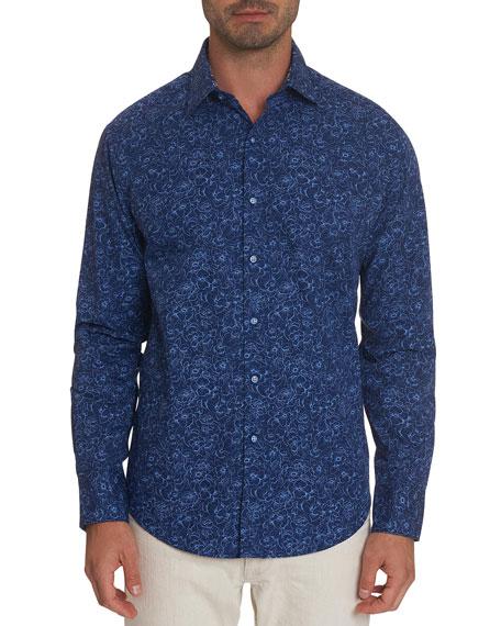 Robert Graham Men's Overhaul Floral Sport Shirt
