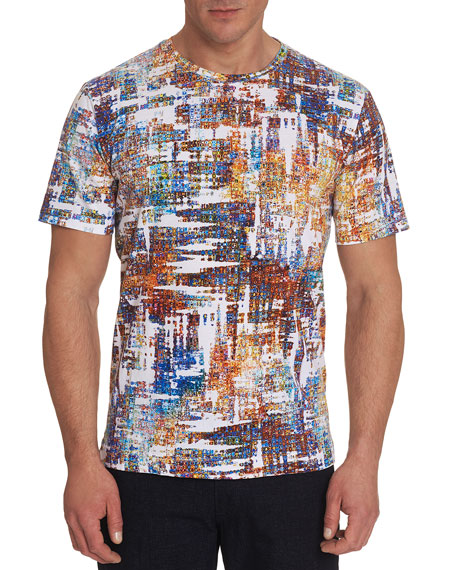 Robert Graham Men's Axle Brushstroke Crewneck T-Shirt