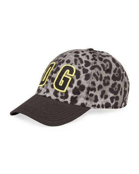 Dolce & Gabbana Men's Leopard DG-Logo Baseball Hat