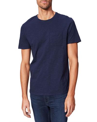 Men's Kenneth Solid Crewneck T-Shirt w/ Pocket