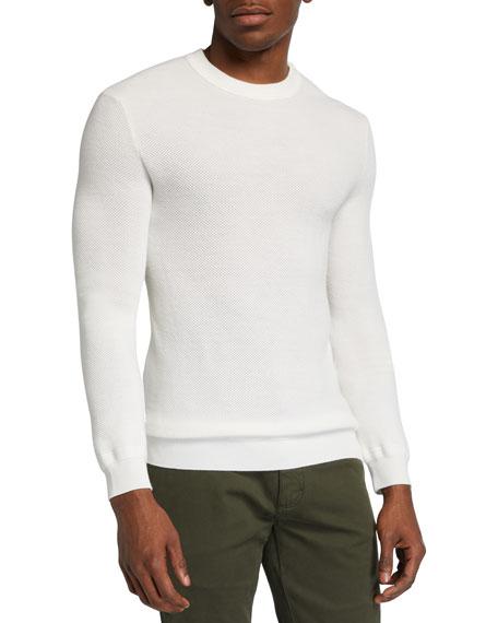 Ermenegildo Zegna Men's Solid Wool-Cashmere Knit Sweater