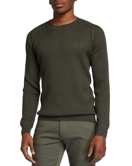 Ermenegildo Zegna Men's Ribbed Crewneck Sweater
